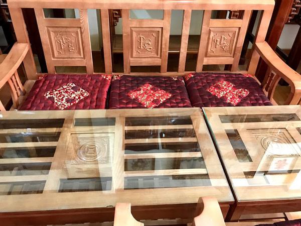 Bàn ghế gỗ tần bì Phúc Lộc Thọ Đà Lạt