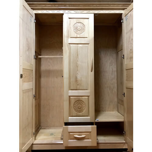 tủ quần áo gỗ 3 cánh đà lạt