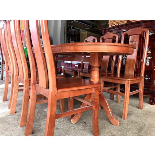 Bàn ăn oval 6 ghế đà lạt