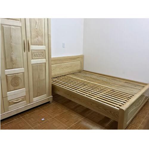 giường ngủ gỗ tần bì 1m6 đà lạt