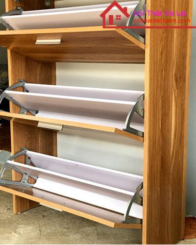 Tủ Giày dép cánh lật với 3 ngăn tủ