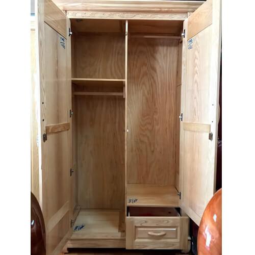 tủ quần áo gỗ 2 cánh đà lạt