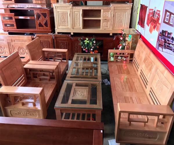 Bàn ghế gỗ Tần Bì Phú Quý Đà Lạt