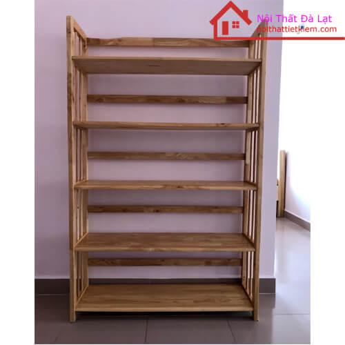 Giá sách gỗ cao su