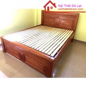 Giường Ngủ 1m6 Gỗ Gội Đỏ