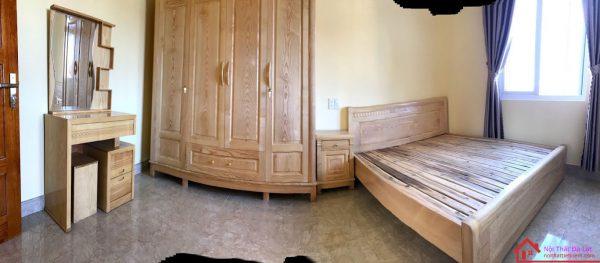 Bộ phòng ngủ cùng chất liệu mang đến sự ấn tượng