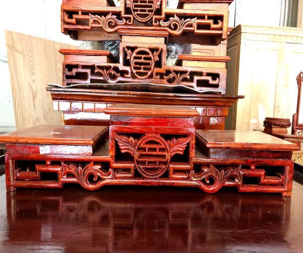 Tam cấp thờ gỗ hương đà lạt