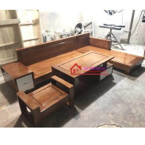 bàn ghế phòng khách gỗ sồi