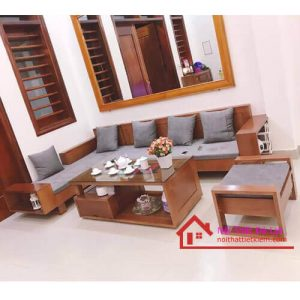 Bộ bàn ghế phòng khách gỗ sồi