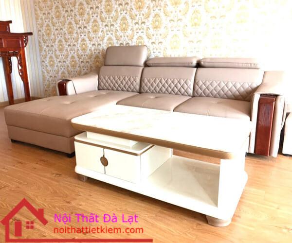 Bàn trà và ghế sofa da