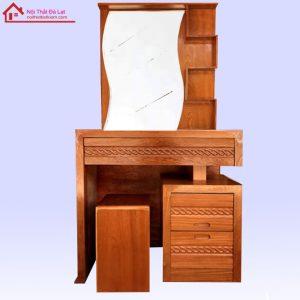 bàn trang điểm gỗ sồi