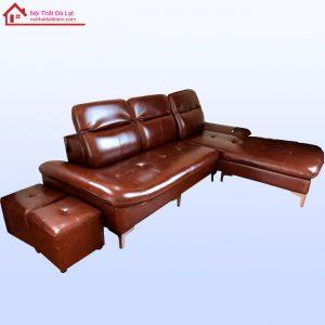 Sofa Da Khung Gỗ Tần Bì