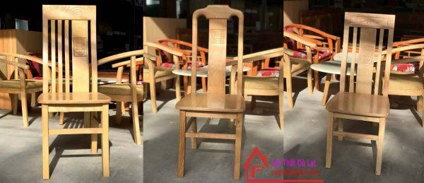 Ghế gỗ bàn ăn với 3 mẫu tùy chọn