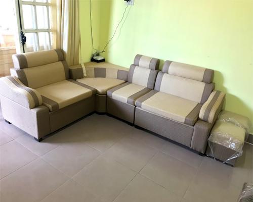 Sofa Nỉ Màu Vàng Xám