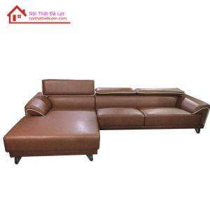sofa da có tựa đầu gật gù