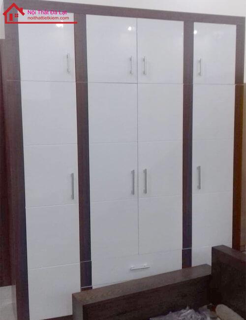 tủ cao sát trần gỗ công nghiệp
