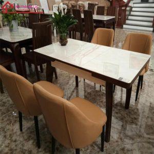 bàn ăn ghế da nhập khẩu